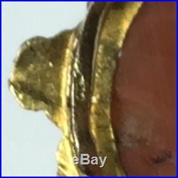 1800/1830 BRACELET Ancien 4 rangs CORAIL facette fermoir CAMÉE corail et OR/