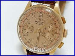 18k 750 boitier or chronographe landeron 51 Coresa ancienne montre breitling mov