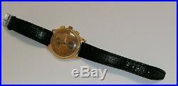 18k 750 boitier or chronographe venus 170 Exactus ancienne montre breitling mov