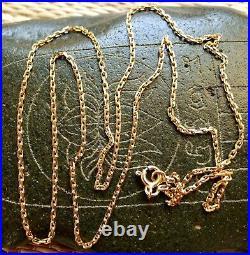 60cm Chaîne Or 18 Carats Ancien Collier Bijou Antique French 18K Gold Necklace