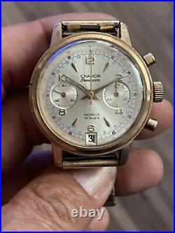 ANCIEN chronographe CHANOR calibre LANDERON 189 Chrono CAL. Landeron189 Watch