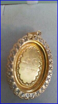 ANCIENNE CHAINE COLLIER ET PENDEN OR 18 carats Poinçon tête d'aigle 750 BIJOUX