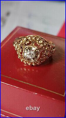 AUTHENTIQUE BAGUE ancienne OR 18 carats/ 750 / / DIAMANT