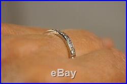 Alliance Ancien Art Deco Platine Diamants 4gr