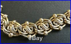 Ancien Bracelet Or 18k. Poinçon de Responsabilité ovale orfèvre, Deux Charançons