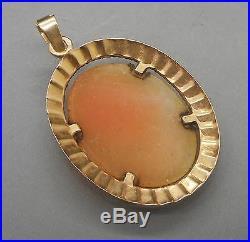 Ancien Camée monté en Pendentif en or 18 carats