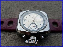 Ancien Chronograph Annees 70 Valjoux 7734 Homme King Size Montre Vintage Homme