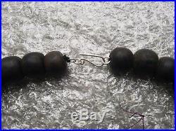 Ancien Collier en corail noir, Vintage, très RARE. 114 grm, Fin 19ème-Début 20