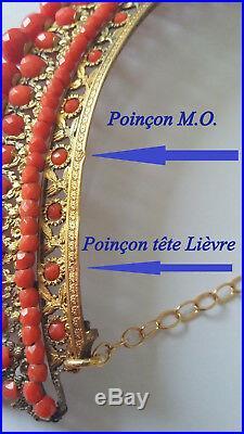 Ancien Diademe Couronne Vermeil -1824-1849 Antique Diadem Tiara Silver Gilded