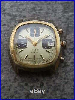 Ancien Mouvement Montre Chronograph Valjoux 7765 Vintage Cadran Hmc Parts