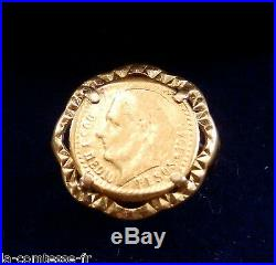 Ancien Pesos De 1945 Monte En Bague Sur Or Jaune 18k