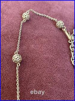 Ancien Rare Vintage Collier Sautoir Christian DIOR émaux Emaillé Createur