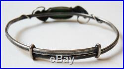 Ancien bracelet ARGENT massif signé Paul DUMONT Art nouveau vers 1910 silver