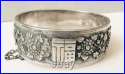 Ancien bracelet en argent massif 19e siècle silver Chine Indochine