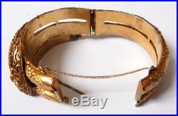 Ancien bracelet serpent en vermeil argent massif snake silver bracelet