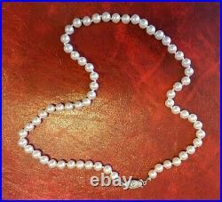 Ancien collier de perles de culture