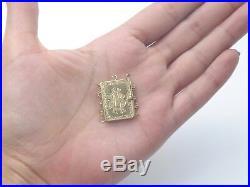 Ancien gros fermoir en or 18k pour collier multirang perle corail XIXeme