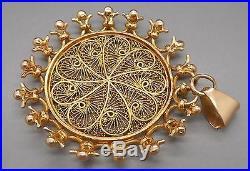 Ancien pendentif en or 18 carats