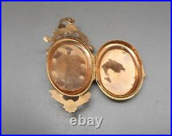 Ancien pendentif porte photos en or 18 carats serti Napoléon III