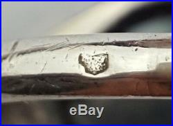Ancienne Bague Argent Massif Hématite Taille 55 / 56 Antique Silver Ring Silber