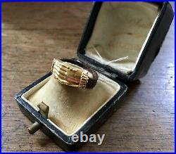 Ancienne Bague Or Cheveux Bijoux De Sentiment XIX Antique Hair Braiding Ring