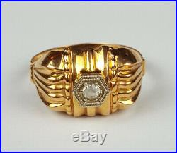 Ancienne Bague Tank Or 18 Carats Taille 53 Antique Gold Ring 18K Size 6.5 / N
