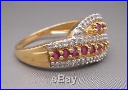 Ancienne Bague en or sertie d'améthystes et diamants
