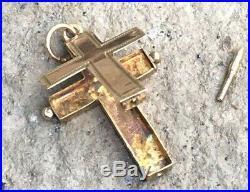 Ancienne Croix Reliquaire En Or 1860 Antique Victorian 18k Gold Reliquary Cross