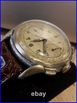 Ancienne Montre CHRONOGRAPHE SELIVA TYPE MILITAIRE MONTRE chronometre