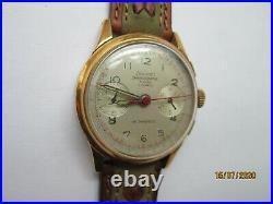 Ancienne Montre Chronographe Suisse Nivada Landeron 51