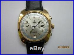 Ancienne Montre Chronographe Yema Valjoux 7734