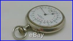 Ancienne Montre De Gousset 24h Chronomètre Maria Déposé 1900 À Réviser Old Watch