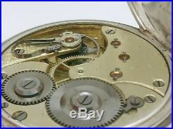 Ancienne Montre De Gousset Argent Oméga Suisse 1880 Fonctionne Old Vintage Watch