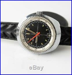 Ancienne Montre De Plongee Yema Racing Etanche Vintage Diving Watch