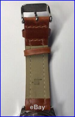 Ancienne Montre Homme Lip Bracelet Cuir Marron Croix Du Sud N1
