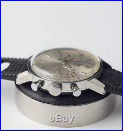 Ancienne Montre Lip Tout Acier Chronographe Geneve Valjoux 7730 Vintage Top Time