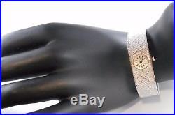 Ancienne Montre de femme Hamor en or gris 18 carats