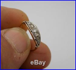 Ancienne bague art déco en or 18 carats sertie de diamants