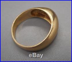Ancienne bague en Or jaune 18 carats sertie d'un diamant