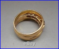 Ancienne bague en or 18 carats sertie d'améthystes