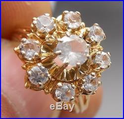 Ancienne bague en or jaune 18 carats sertie