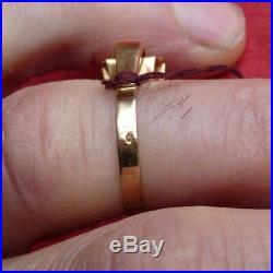 Ancienne bague taille 54 or 750 3,3gr 18ct 18K gold poinçon tête d'aigle