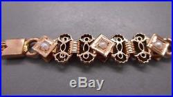 Ancienne chatelaine en or 18 carats pour montre à gousset