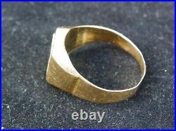 Ancienne chevalière or jaune 18 carats
