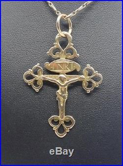 Ancienne croix dauphinoise en or 18k bijou regional de Savoie