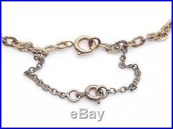 Ancienne longue chaine collier sautoir en or 18k 12g