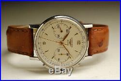 Ancienne montre CHRONOGRAPHE LONGINES 30CH ACIER 36 mm vintage watch 1950