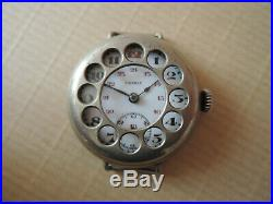 Ancienne montre PATRIA militaire WWI old watch military as Omega for repair