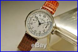 Ancienne montre ULYSSE NARDIN CHRONOGRAPHE Valjoux 13 vintage SILVER watch1920