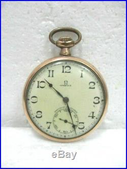 Ancienne montre à gousset OMEGA, plaqué or